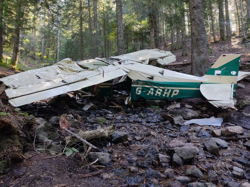 avion abandonné g-arhp
